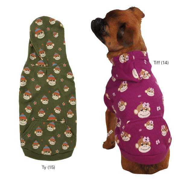 Tiff  & Ty Monkey Business Waffle Dog Hoodies