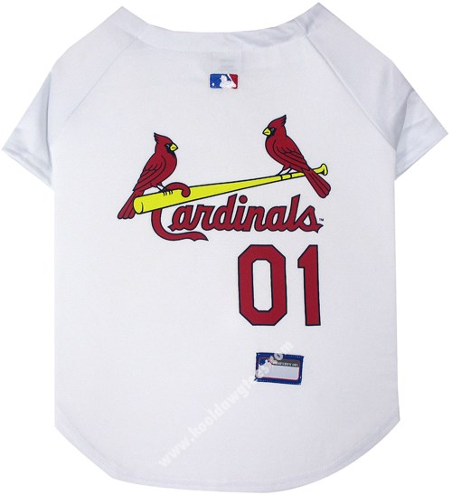 MLB St. Louis Cardinals Dog Baseball Jersey - Red