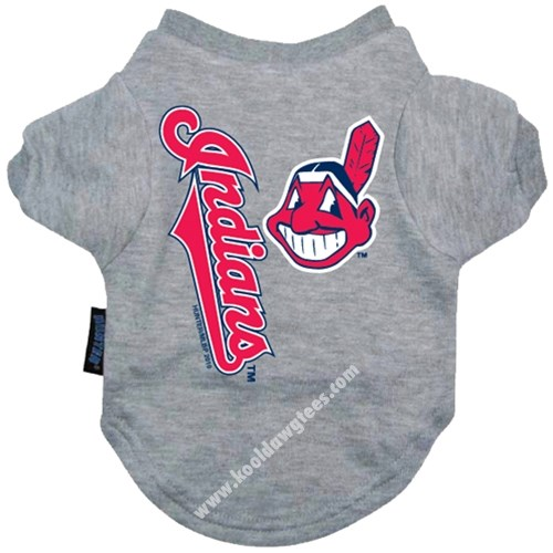 MLB Cleveland Indians Dog Baseball Tee Shirt