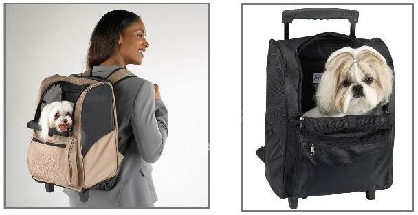 Dog Carrier - Deluxe Backpack Carrier On Wheels