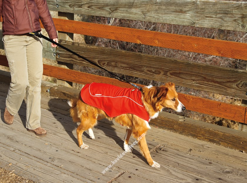 RuffWear K-9 Overcoat Ultility Dog Jacket  - Red Currant
