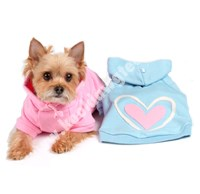 Hearts Hooded  Doggie Sweatshirt